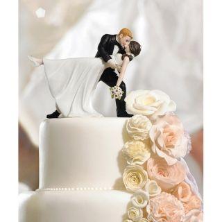 Tortenfigur romantisch tanzendes Brautpaar Cake Topper für Hochzeitstorte handbemalt