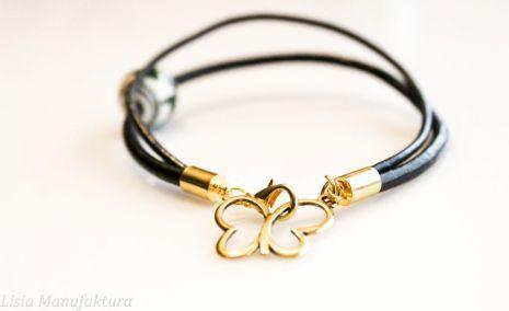 #bransoletka #motyl #rzemyk #ceramiczne #złoto #bracelet