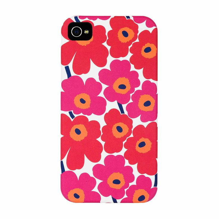 Unikko IPhone 4 cover, Red - Maija Isola & Kristina Isola - Marimekko - RoyalDesign.com #mothersday #morsdag #marimekko #royaldesign #iphonecover