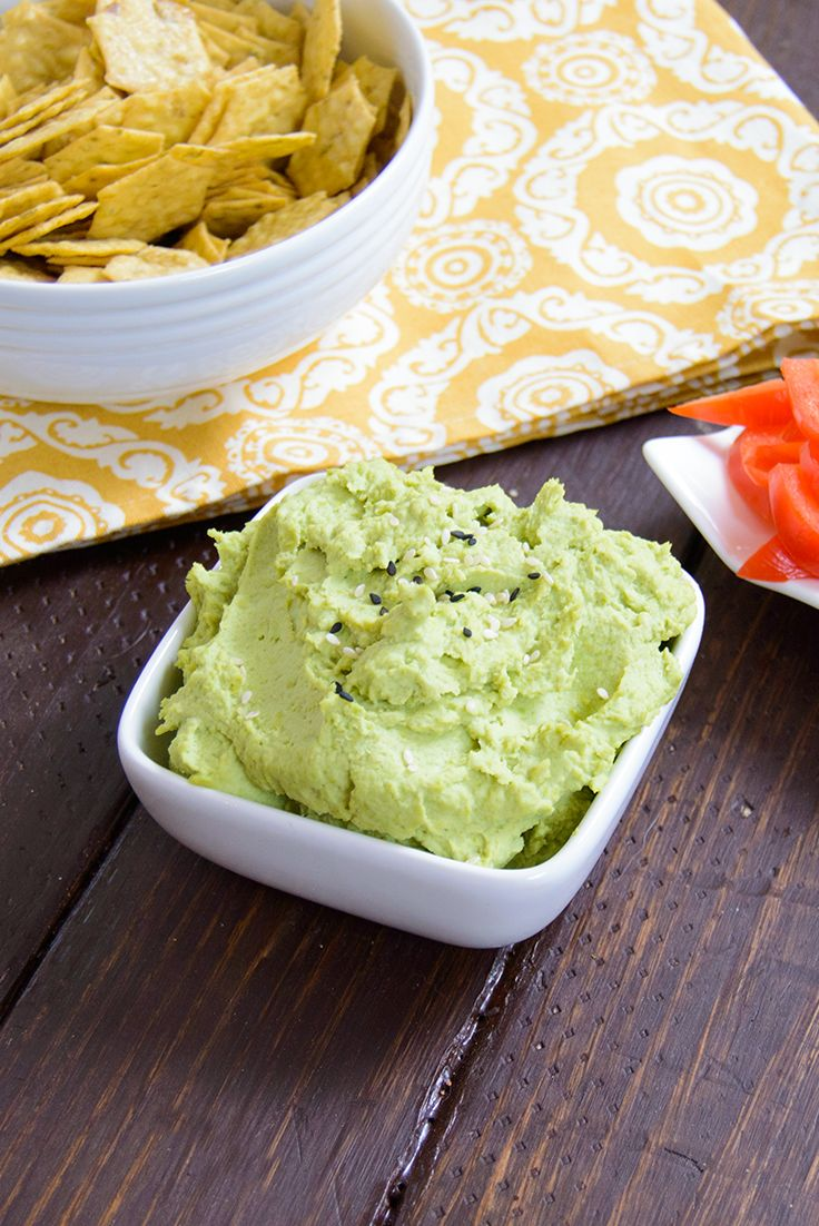 Wasabi Edamame Hummus is light and creamy and packed with flavor. Such a fun change from the conventional hummus flavors. This hummus is packed with protein, low fat, high fiber, gluten free and vegan.