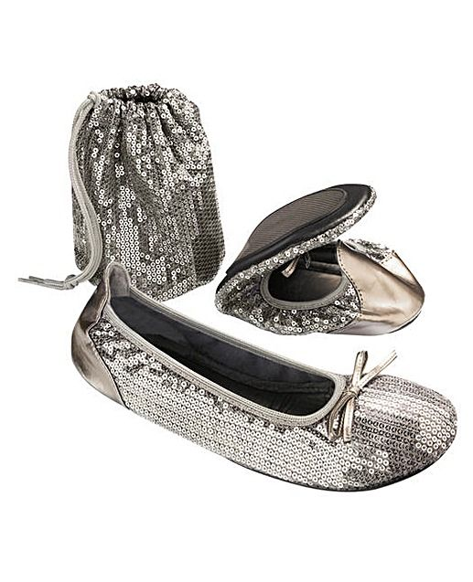 Sole Diva Sequin After Party Shoe EEE   J D Williams