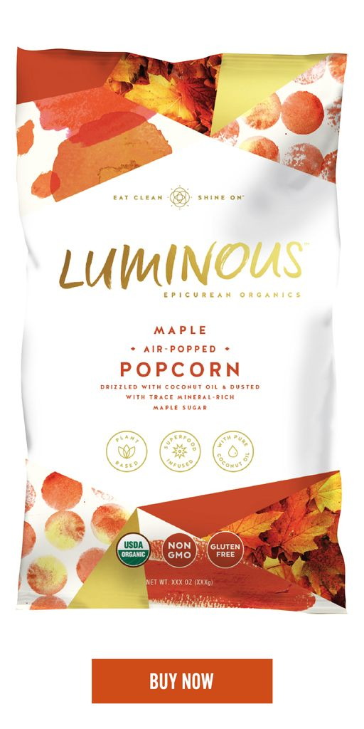 Air-Popped Organic Popcorn - Loaded with polyphenol antioxidants. We never fry our popcorn, which can cause cell damaging free radicals.        Organic Virgin