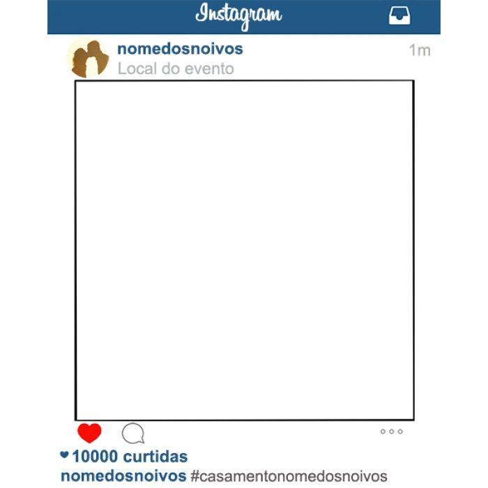 Instagram layout template blank