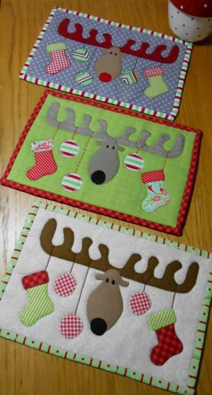 Christmas Antlers Mug Rug | Craftsy