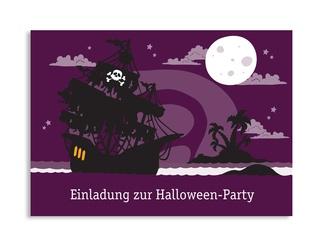 Ahoi Ihr Piraten! Diese Einladungskarte zu Ihrer Party bietet Platz für den Einladungstext und die Adresse.