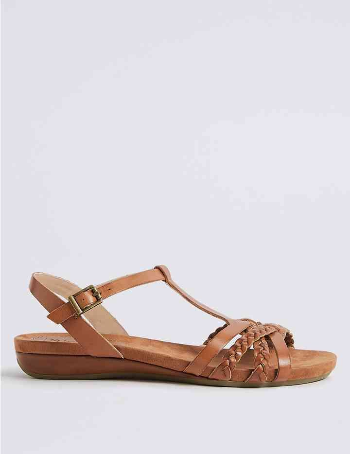 Wide Fit Leather Gladiator Sandals | M