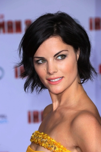"Jaimie Alexander arrives at the ""Iron Man 3"" LA premiere at the El Capitan Theater in Los Angeles, CA #beauty #makeup #celebrity #looks"