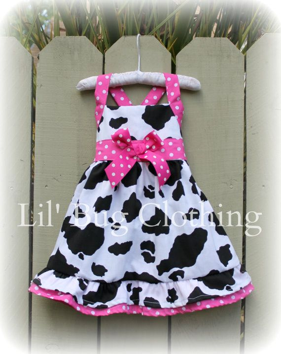 Custom Boutique Country Cowgirl Pink Dots by LilBugsClothing, $45.00
