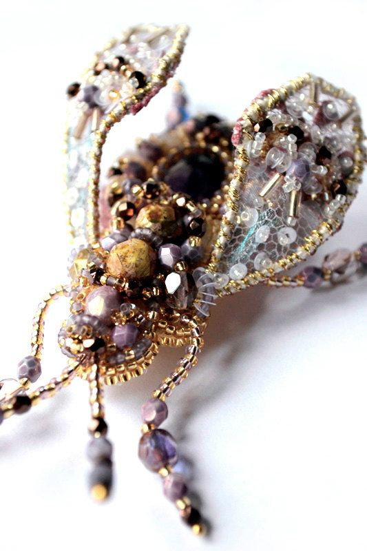 Beetle brooch READY to ship Nature jewelry by BeadedNatureJewelry #AgijaRezcova