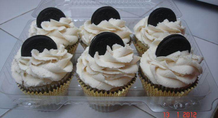 Oreo y chocolate blanco cupcakes