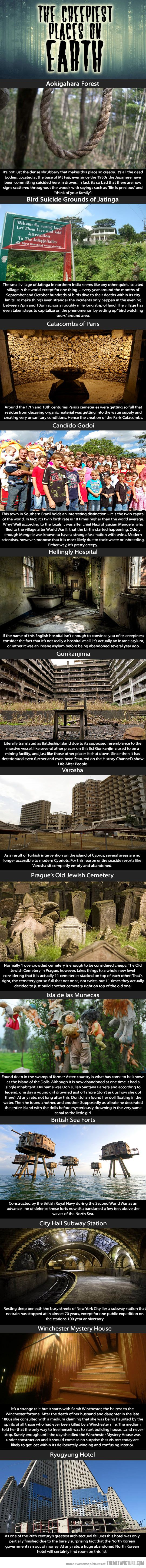 Creepiest Places on Earth… Is it weird that I now have a desire to visit all of these places?