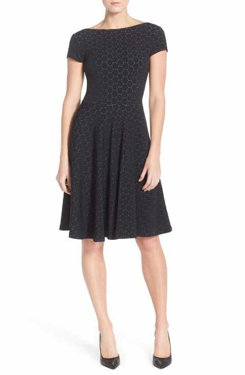 Leota 'Circle' Jacquard Woven Jersey Dress