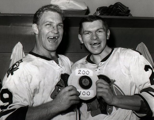 Bobby Hull and Stan Mikita, Chicago Blackhawks
