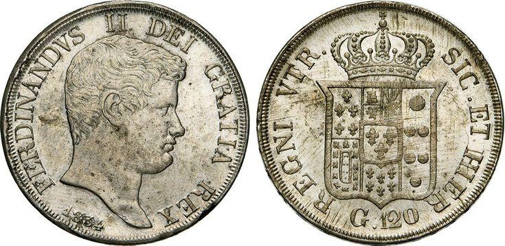 NumisBids: Numismatica Varesi s.a.s. Auction 65, Lot 509 : NAPOLI - FERDINANDO II (1830-1859) 120 Grana o Piastra 1834. P.R....