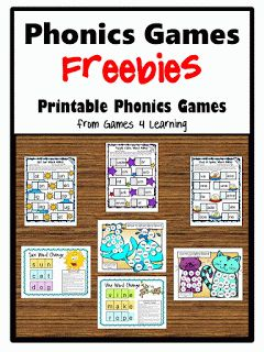 Phonics activities:  FREE phonics games packet.