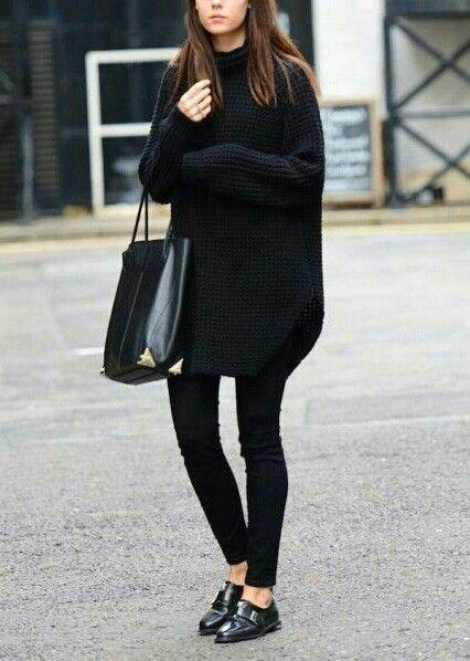 minimal black #style #fashion