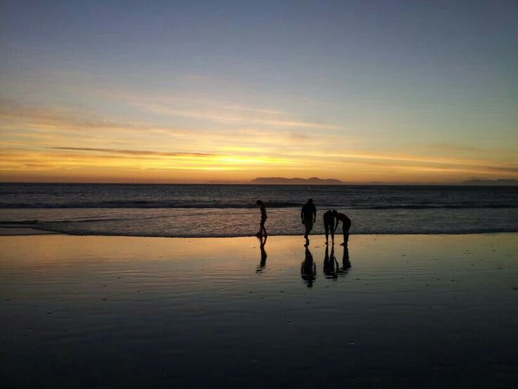 Strand beach - sunset, Strand, Cape Town, South Africa