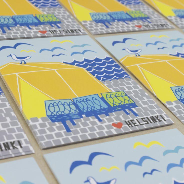 Muumuru postcard: Lempi Helsinki Kauppatori