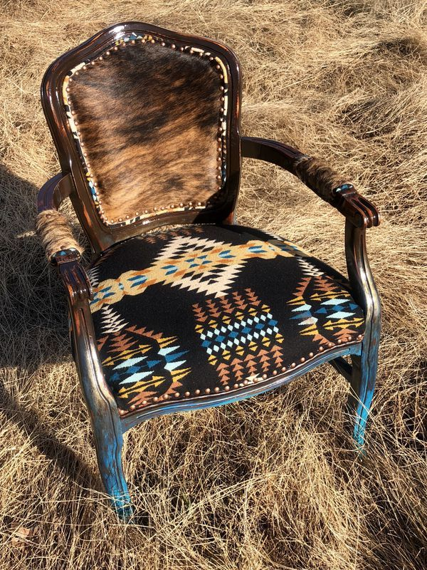 Custom Cowhide Arm Chairs For In, Western Style Furniture Oklahoma City