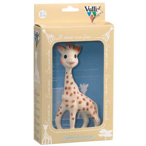 Żyrafa Sophie Vulli w kartonowym opakowaniu