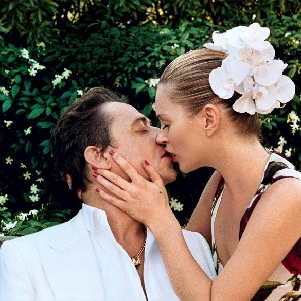 Kate Moss And Her Husband Star In A Romantic Vogue Spread via @WhoWhatWear