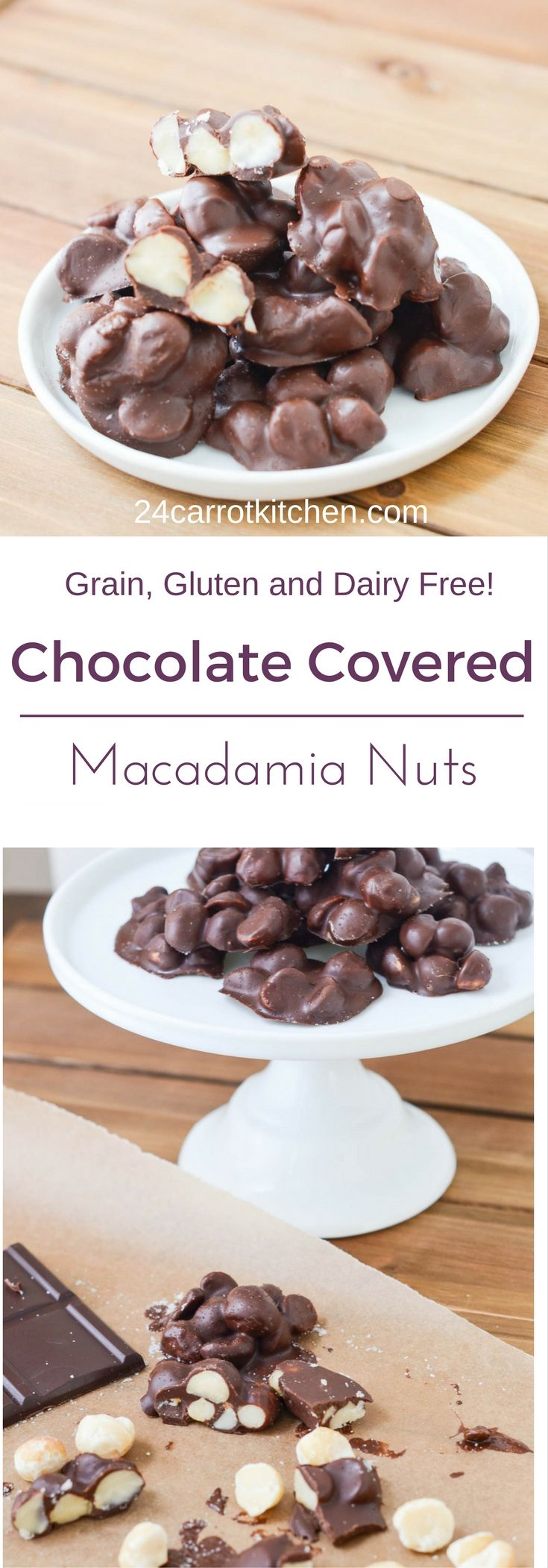 Chocolate Covered Macadamia Nuts - #Paleo #gluten-free #grain-free #dairy-free #vegan #desserts