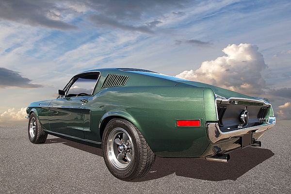 1968 Ford Mustang Fastback, a classic American muscle car from the film Bullitt. #americanmuscle #musclecars #coolcars #ponycars #fordmustang