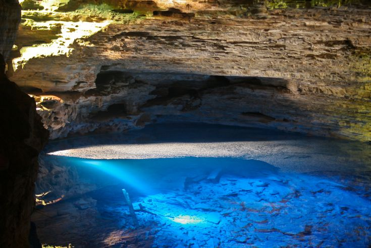 Enchanted Well, Chapada Diamantina, Brazil  Chapada Diamantina is a national park that sits on a plateau in Bahia, Brazil.