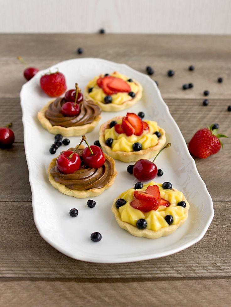 Pradobroty: Tartaletky s žloutkovým krémem - vanilkovým a čokoládovým