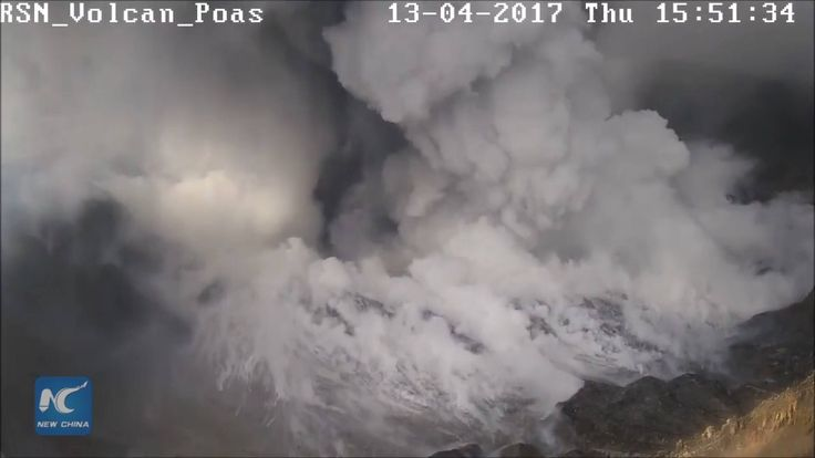 Poas Volcano in Costa Rica erupted suddenly late Wednesday, spewing ash and cracking the crater's dome. Costa Rica's volcano and earthquake monitoring agency estimated the eruption lasted some 40 minutes.