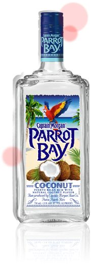 Captain Morgan Parrot Bay rum in coconut flavor. Mix with pineapple juice to your liking and a splash of grenadine for a tropical sunset!!! Delicious!
