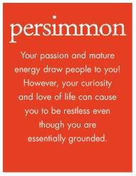 Colorscope: What Do Your Favorite Colors Say About You?  Persimmon is one of my Color Matches*