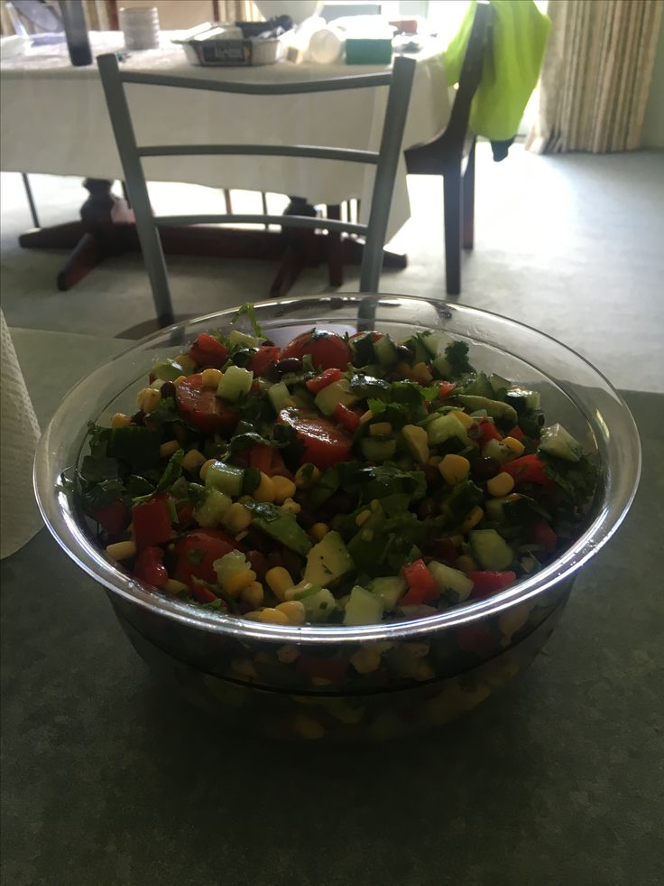 Tomato corn and avo salad. Mmm..