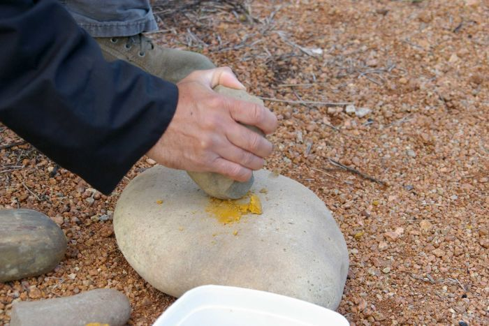 Traditional ochre quarry