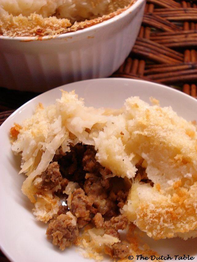 The Dutch Table: Zuurkoolschotel (Dutch Sauerkraut Casserole)