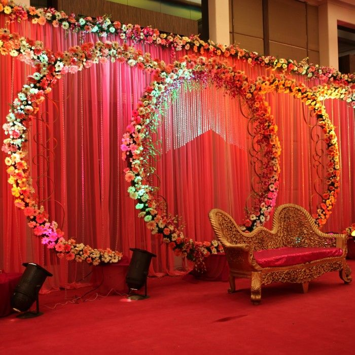 Indian Wedding Birthday Planner Couple Stage Flower Ballons