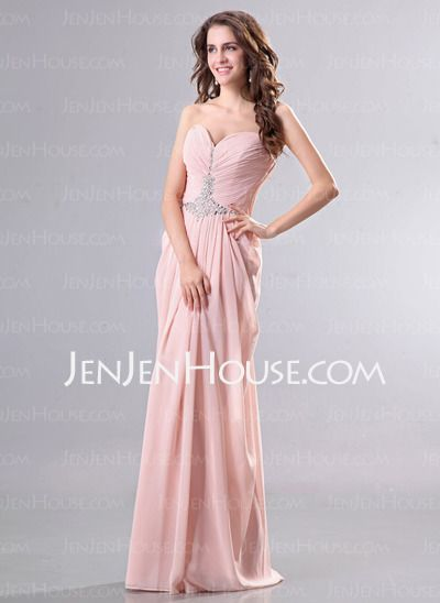 Evening Dresses - $126.99 - A-Line/Princess Sweetheart Floor-Length Chiffon Evening Dresses With Ruffle Beading (017014270) http://jenjenhouse.com/A-Line-Princess-Sweetheart-Floor-Length-Chiffon-Evening-Dresses-With-Ruffle-Beading-017014270-g14270