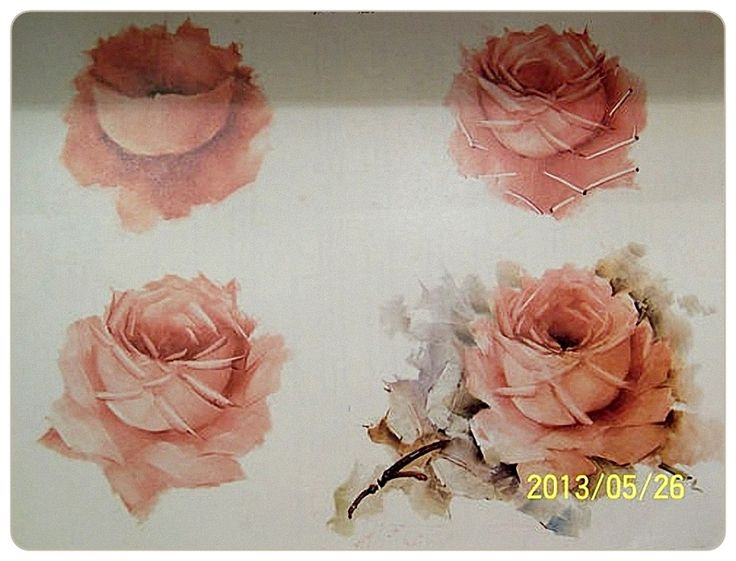 Rose. China painting. Step by step. Smart selection .. Discussion LiveInternet - Russian Service Online Diaries
