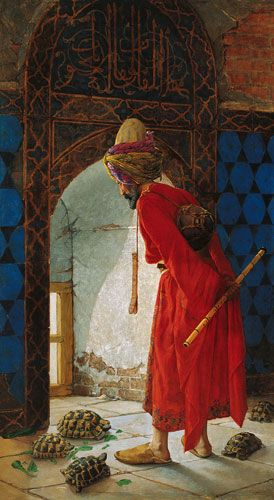 """The Tortoise Trainer"" by Osman Hamdi Bey, Pera Museum, Istanbul 1906"