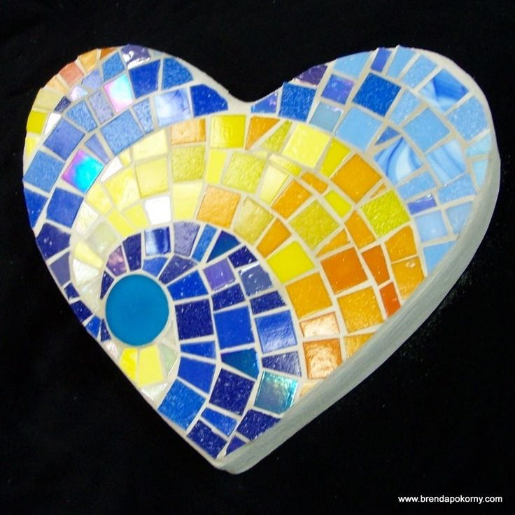 Sunshine Heart Mosaic Stepping Stone