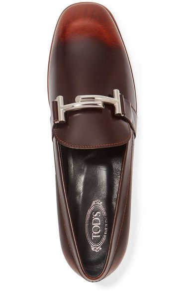 Tod's - Burnished Leather Loafers - Brown - IT38