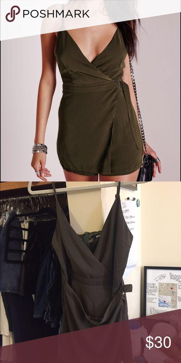 MISSGUIDED PLAYSUIT Khaki playsuit/romper Missguided Dresses