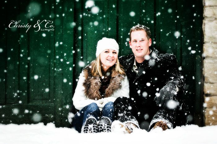 CJ Photo~Christy & Co.: Snowy Engagement {Owen Sound Wedding and Portrait Photography}