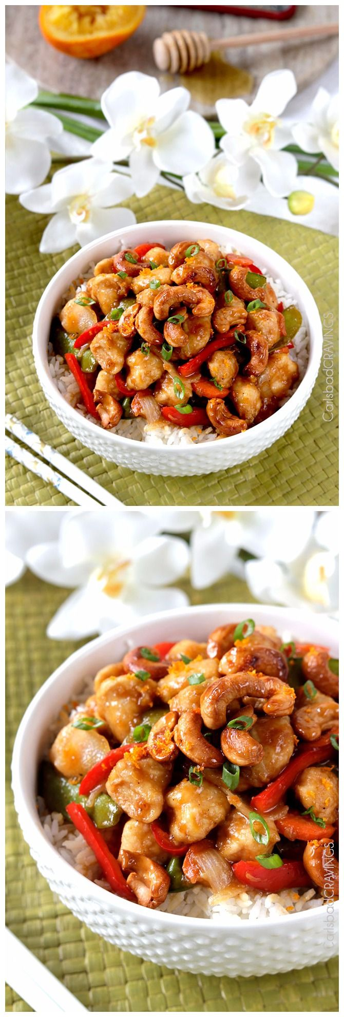 Skinny Sweet and Spicy Caramelized Cashew Ginger Chicken Stir Fry