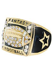Fantasy Football Gold Fantasy Ring