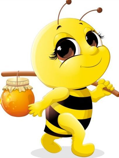 lovely cartoon bee set vectors 02