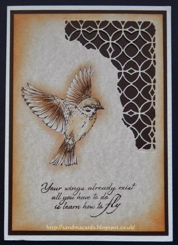 Sandma's Handmade Cards: Inkylicious on Hochanda -Spread Your Wings