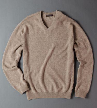 J. Hilburn  cashmere v-neck sweater, $165