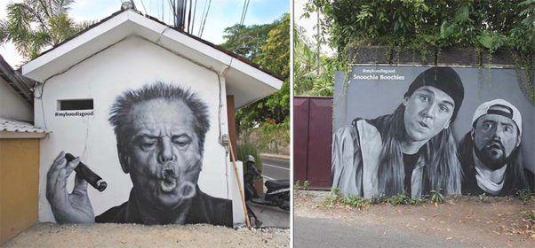 Питерские граффитчики HoodGraff сделали потрясающую серию работ на о. Бали