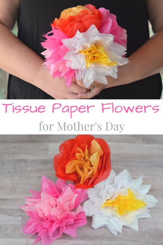 The Ultimate Pinterest Party, Week 146   How to Make Tissue Paper Flowers for Mother's Day #MakeHerMothersDay #ad